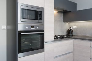 Picture of a built-in wall oven installed in a kitchen